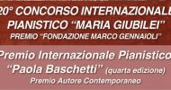 """Concorso Pianistico """"Maria Giubilei"""" – premio Internazionale """"Paola Baschetti"""""""